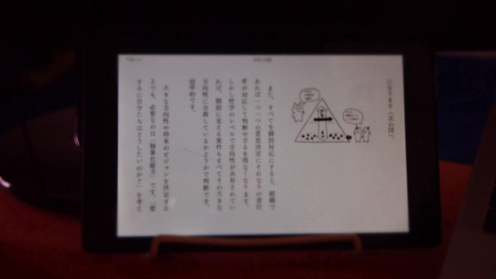 Kindleが読みやすい!