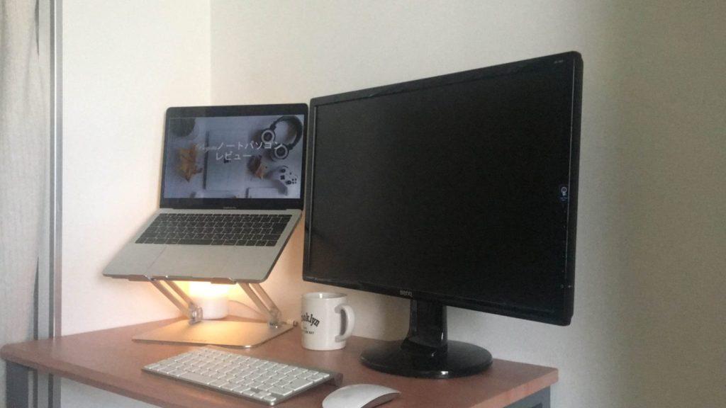 ディスプレイ外付けを使って2画面での作業もありですよ。