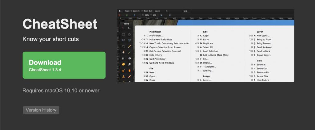 MacBook Proおすすめアプリその③:CheatSheet(無料)
